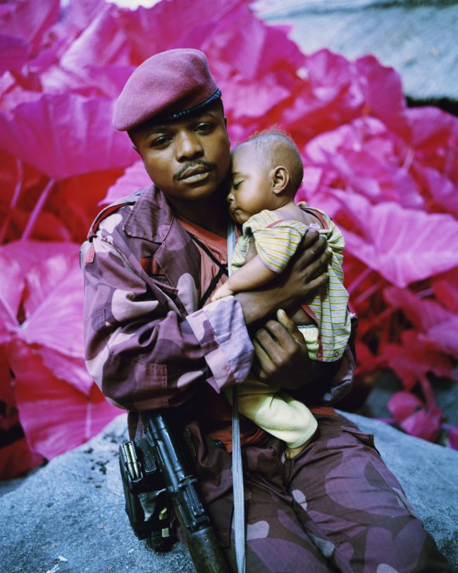 Richard Mosse. 'Madonna and Child, North Kivu, Eastern Congo' 2012