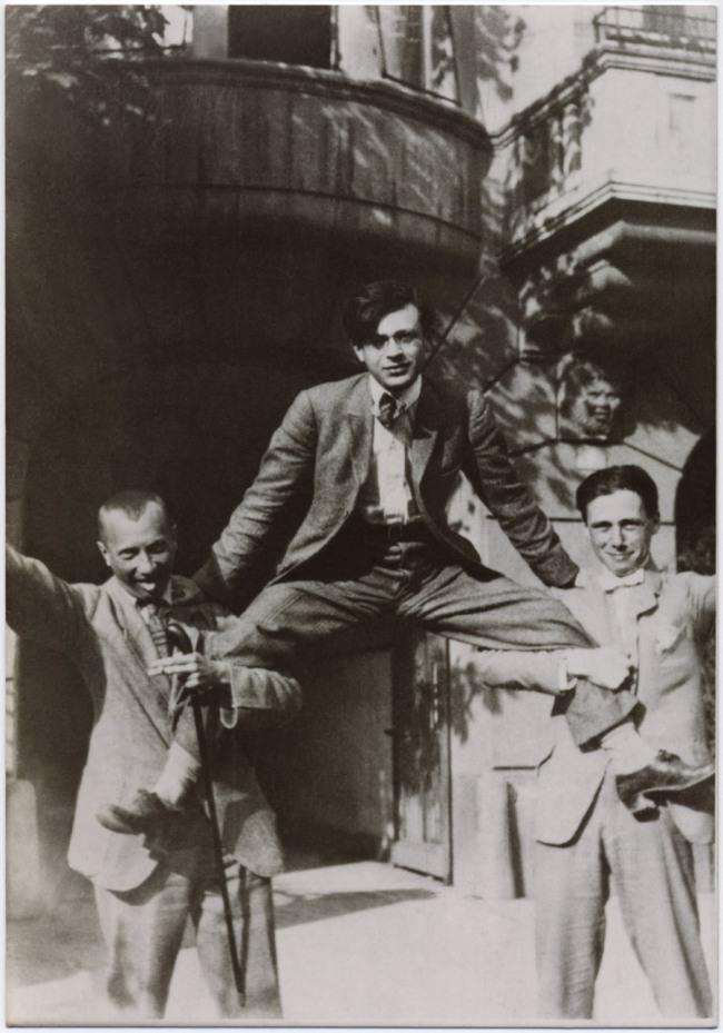Unknown artist. 'Hans Arp, Tristan Tzara and Hans Richter, Zurich' 1918
