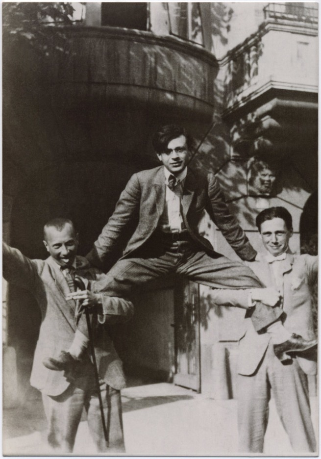 Unknown artist. 'Hans Arp, Tristan Tzara and Hans Richter, Zurich' 1918