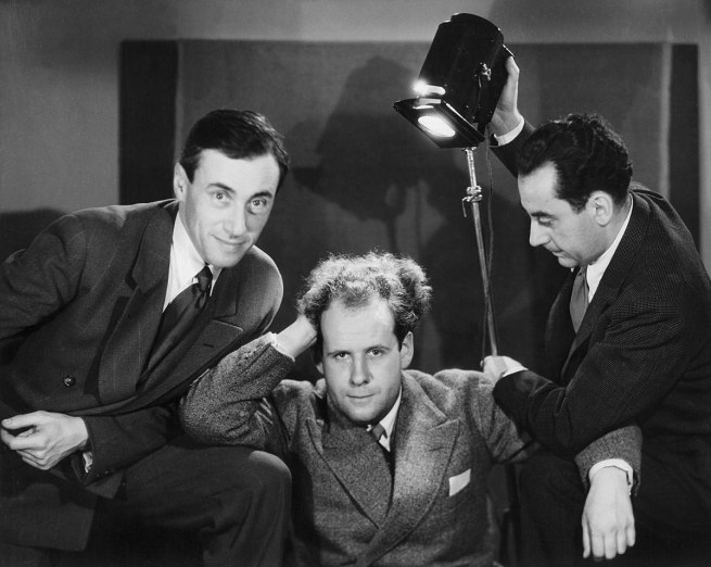 Unknown artist. 'Hans Richter, Sergei Eisenstein and Man Ray, Paris' 1929