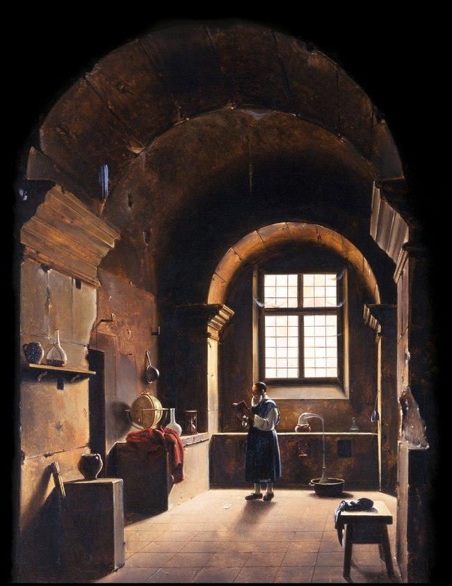 Francois-Marius Granet. 'The Alchemist' 1st half of the 19th century