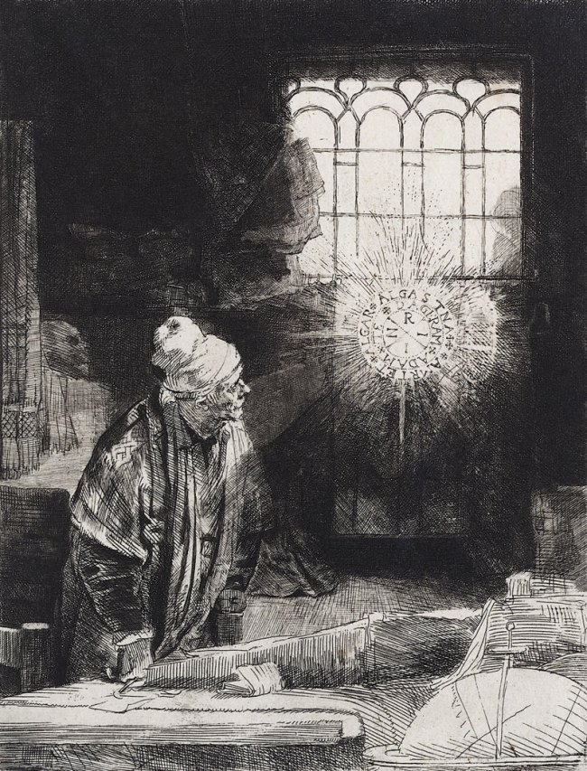 Rembrandt Harmenszoon van Rijn. 'Sogenannter Faust' [Allegedly Faust] c. 1651‑1653