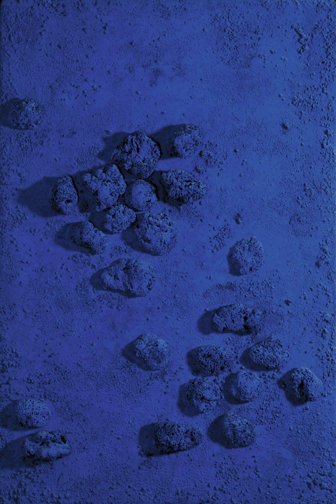 Yves Klein. 'Relief éponge bleu (RE 18)' (blue sponge relief [re 18]) 1960
