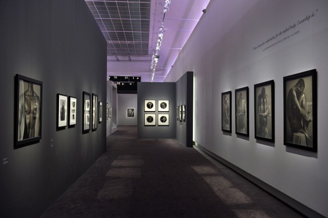 Installation view of the exhibition 'Robert Mapplethorpe' at the Grand Palais, Paris 2014