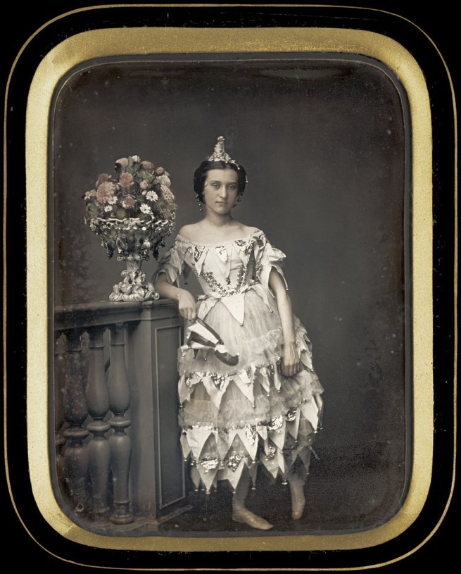 (Pierre) Victor Plumier, French, active 1840s-1850s.  'Lady in Costume' c. 1850