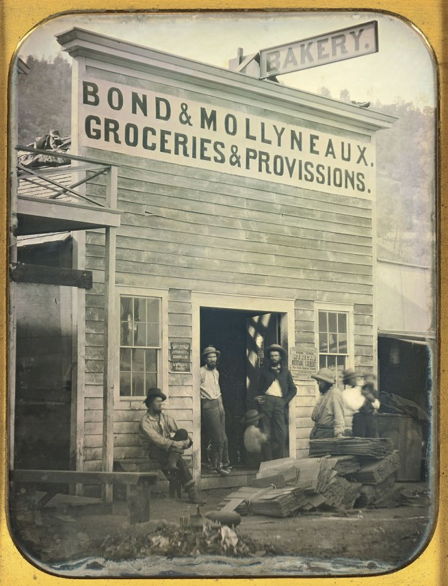 Unknown maker, American. 'Bond & Mollyneaux Groceries and Provisions' c. 1850