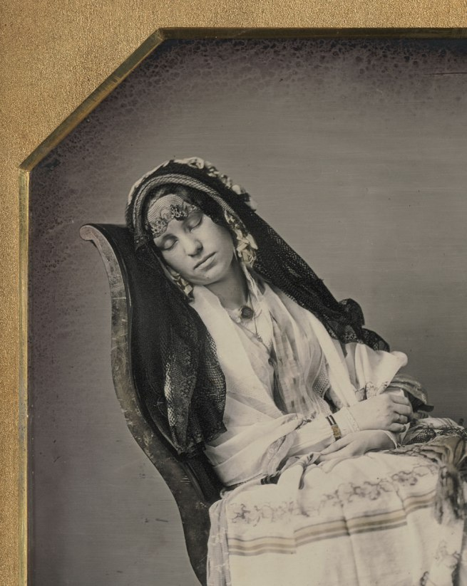 David C. Collins, American, 1825-1909 Thomas P. Collins, American, 1823-1873. 'Portrait of Frances Amelia Collins Mitchell' (detail) c. 1850