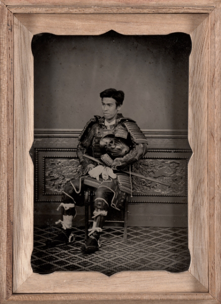 Attributed to: Tsukamoto, Japanese. 'Portrait of a man in samurai armor' mid 1870s