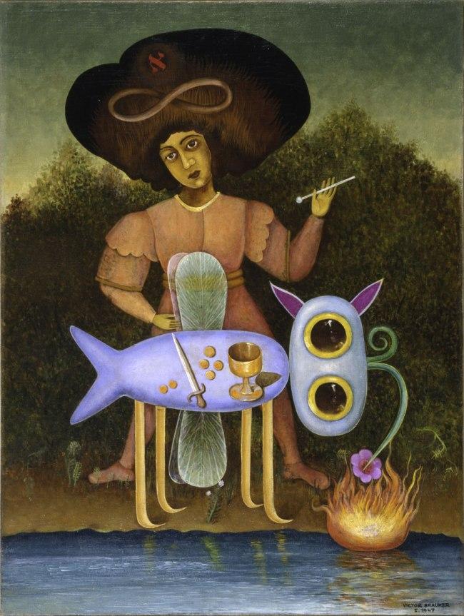 """Victor Brauner. 'Le Surréaliste' (""""The Surrealist"""") 1947"""