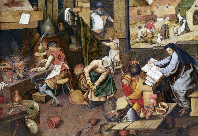 Pieter Brueghel the Younger (after Pieter Brueghel the Elder). 'The Alchemist' c. 1600
