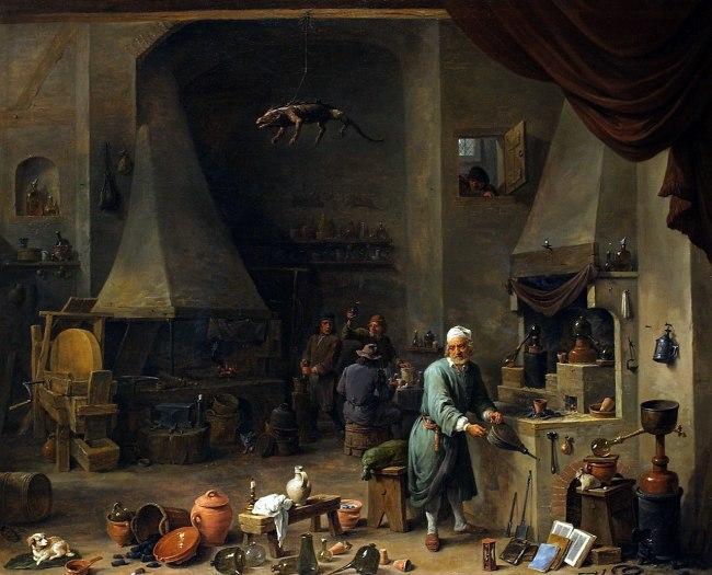 David Teniers d.J. 'Alchemist in his Workshop' c. 1650
