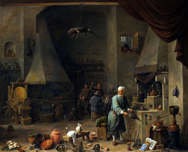 David Teniers d.J. 'Alchemist in his Workshop' c. 1650
