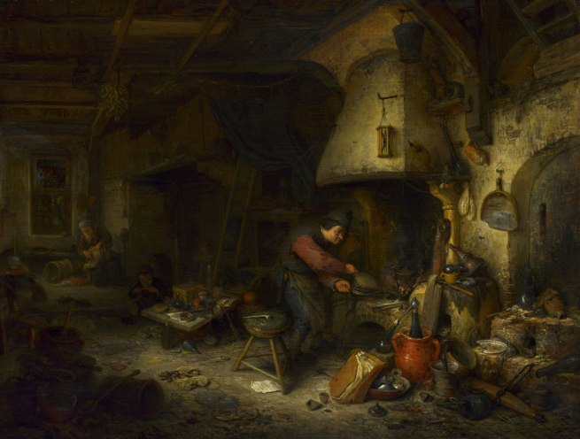 Adriaen van Ostade. 'The Alchemist' 1661
