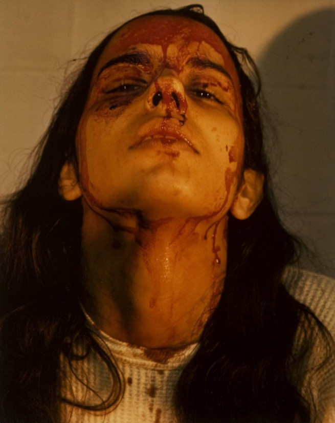 Ana Mendieta. 'Untitled (Self-Portrait with Blood)' (detail) 1973