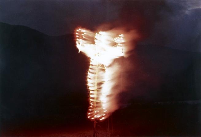 Ana Mendieta. 'Anima, Silueta de Cohetes (Firework Piece)' (still) 1976
