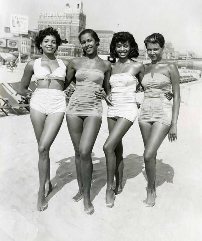 John W. Mosley. 'Atlantic City, Four Women' c. 1960s