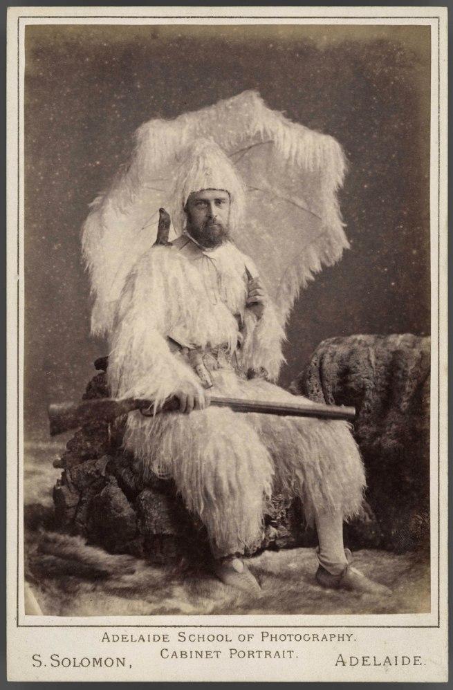 Saul Solomon, photographer. 'Man dressed as Robinson Crusoe' 1888
