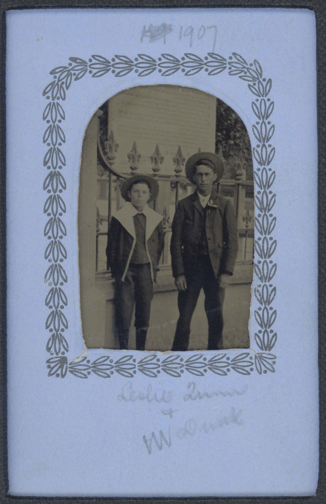 Photographer unknown. 'Leslie Quinn and W. Dunk' c. 1890