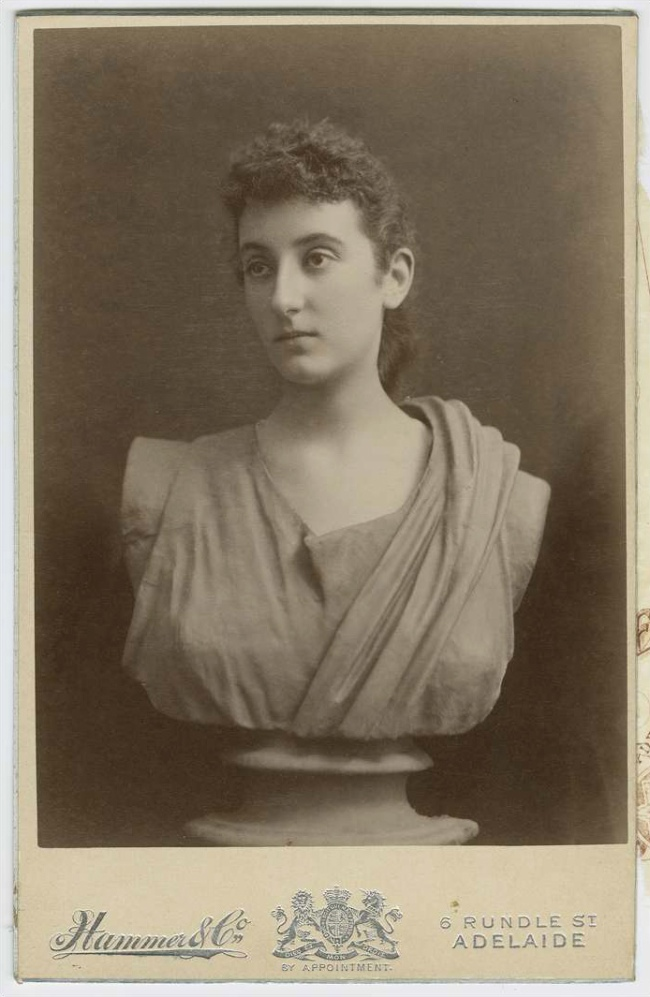 Hammer and Co. 'Bust of a young woman' Rundle Street, c. 1895