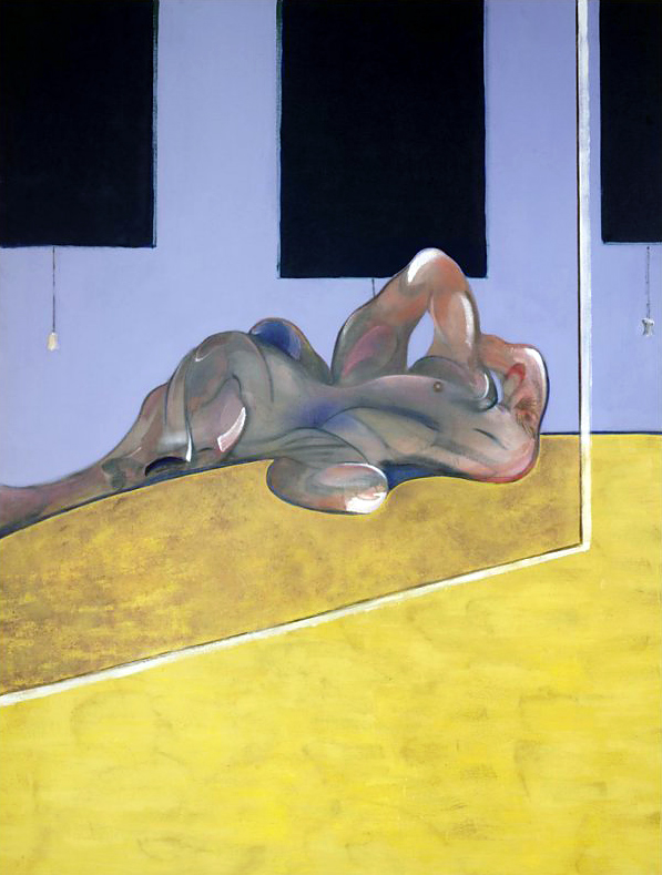 Francis Bacon. 'Lying Figure in a Mirror' 1971