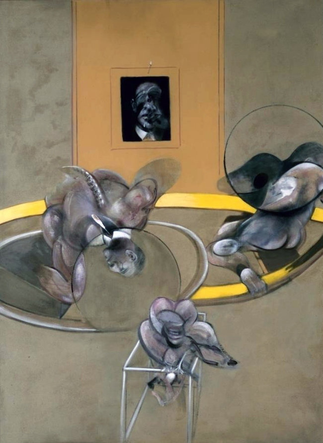 Francis Bacon. 'Three Figures and a Portrait, 1975' 1975