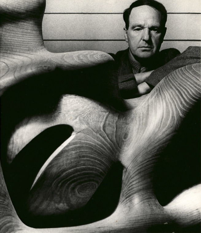 Bill Brandt. 'Henry Moore in his Studio at Much Hadham, Hertfordshire' 1940