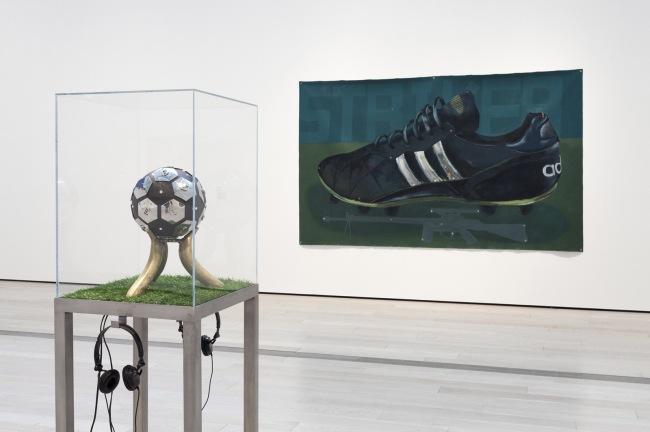 Satch Hoyt 'Kick That' 2006 (in case) and George Afedzi Hughes 'Parallel' 2009-11