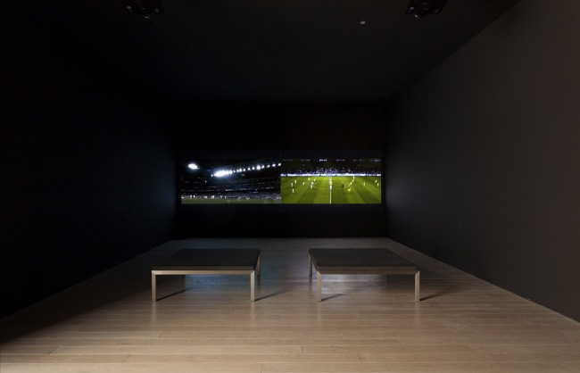 Installation view of the exhibition'Fútbol: The Beautiful Game'atThe Los Angeles County Museum of Art (LACMA)