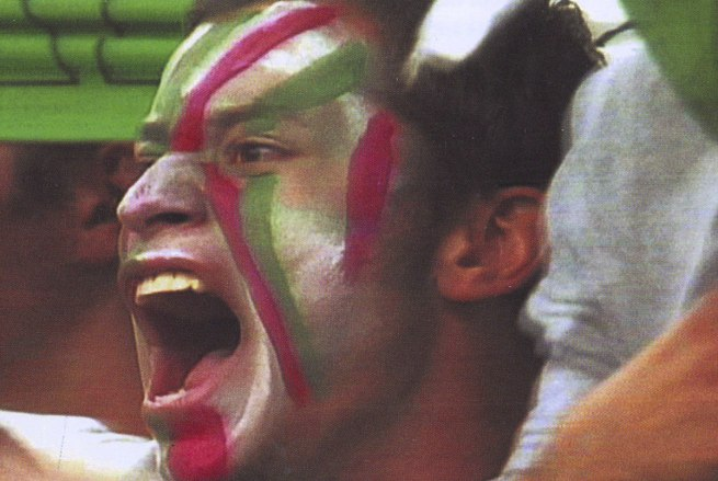 Miguel Calderón. 'Mexico vs Brasil' (video still) 2004
