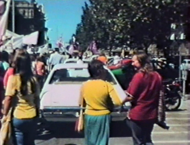 Barbara Creed. 'Stills from a Super 8mm film of a Women's Liberation march' Melbourne, 1973, printed 2014