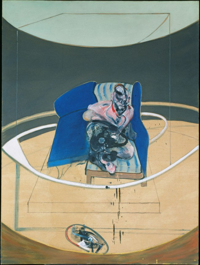 Francis Bacon. 'Study for Portrait on Folding Bed' 1963