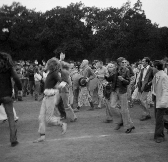 John Englart. 'Dancing with the Hare Krishnas in the Sydney Domain' Sydney, 1973