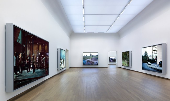 Installation view of 'Jeff Wall: Tableaux, Pictures, Photographs, 1996-2013' at Stedelijk Museum Amsterdam