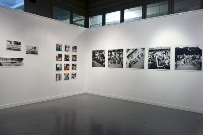 Installation photograph of the exhibition 'Out of the closets, onto the streets: Gay Liberation photography 1971-73' at Edmund Pearce Gallery, Melbourne, July 2014