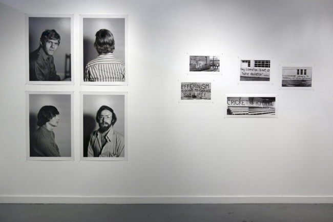 Phillip Potter portraits for CAMP Ink magazine 1973 at left with Graffiti in Melbourne 1971-73 at right
