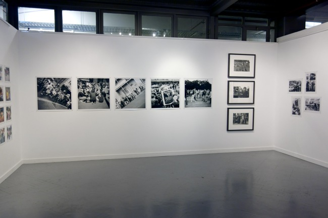 John Englart's five photographs of Sydney Gay Pride Week march 1973 in the centre with Rennie Ellis at right of these