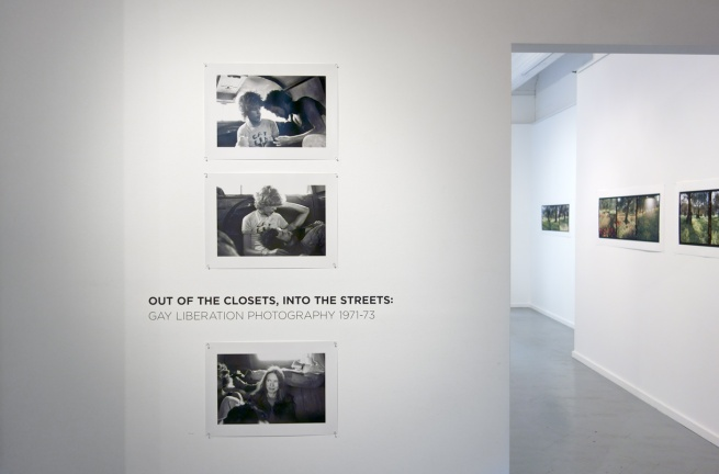 Title of the exhibition with Barbara Creed's three 35mm black and white photographs