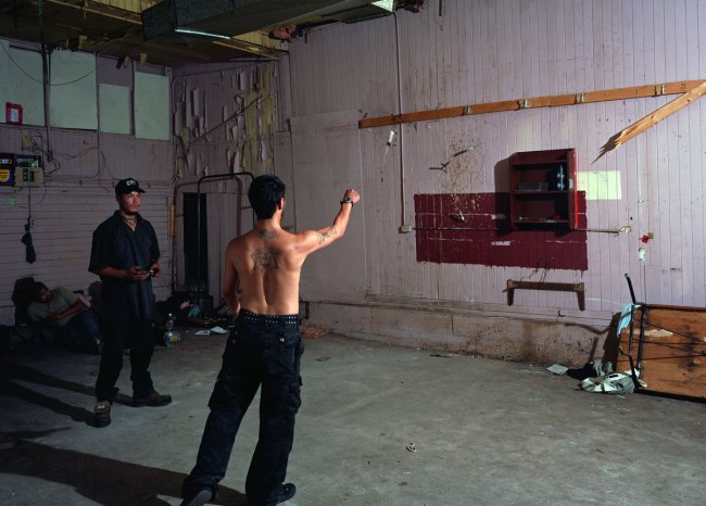 Jeff Wall. 'Knife Throw' 2008