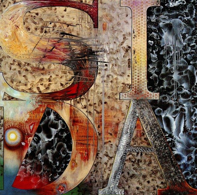 Juan Davila. 'LOVE' 1988