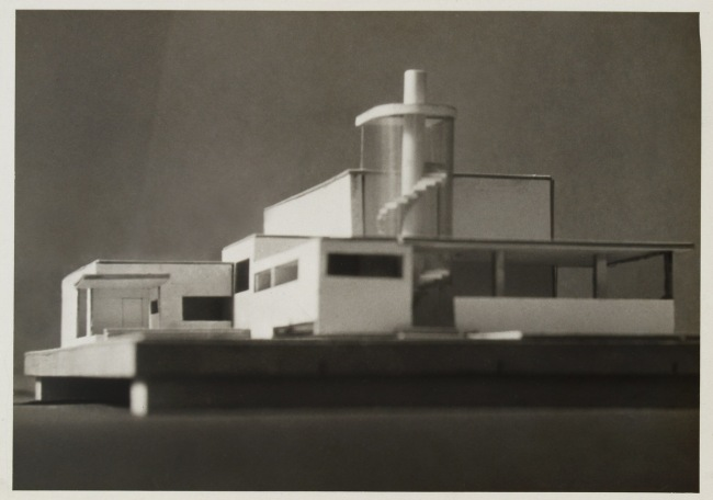 Knud Lonberg-Holm. 'Radio Broadcasting Station' Photograph of Model Detroit, 1925