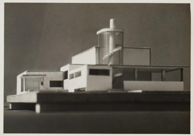 Knud Lonberg-Holm. 'Radio Broadcasting Station' Photograph of Model Detroit, 1925