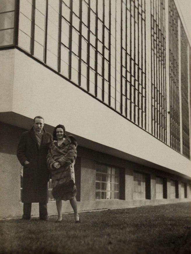 Knud Lonberg-Holm Iwao Yamawaki (attributed) 'Knud & his wife Ethel outside of Bauhaus' 1931
