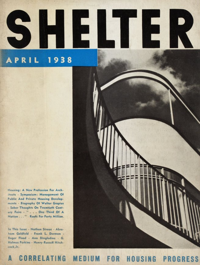 'Shelter' Cover design by Knud Lonberg-Holm April 1938