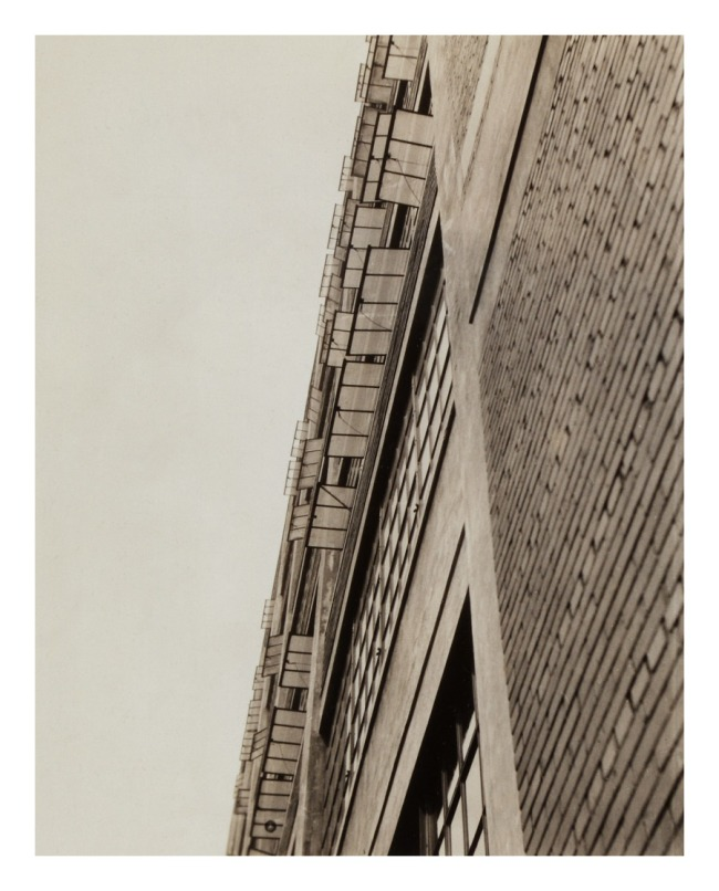 "Knud Lonberg-Holm. 'Photograph of ""Modern Architecture"" at Fifth Avenue' c. 1923-1924"