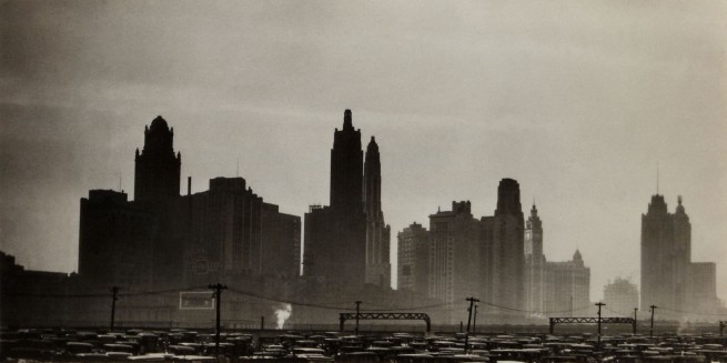 Knud Lonberg-Holm. 'Photograph of Chicago's new skyline North of Randolph Street All new since 1926 except Wrigley and Tribune buildings' May 1929