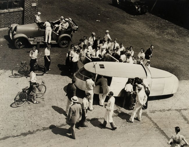 Knud Lonberg-Holm. 'Photograph of the Dymaxion Car' Bridgeport, Connecticut, July 21, 1933
