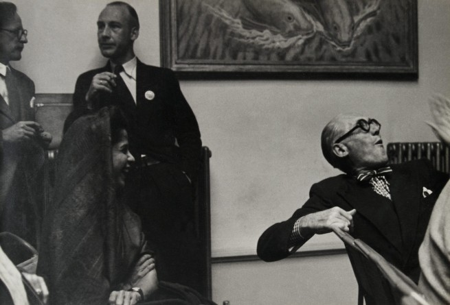 Knud Lonberg-Holm. 'Le Corbusier at CIAM Conference' c. 1954-1964