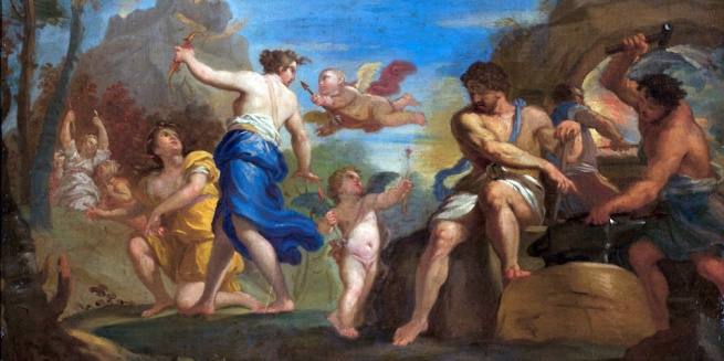 Giovanni Antonio Grecolini. 'The Education of Cupid by Venus and Vulcan' 1719