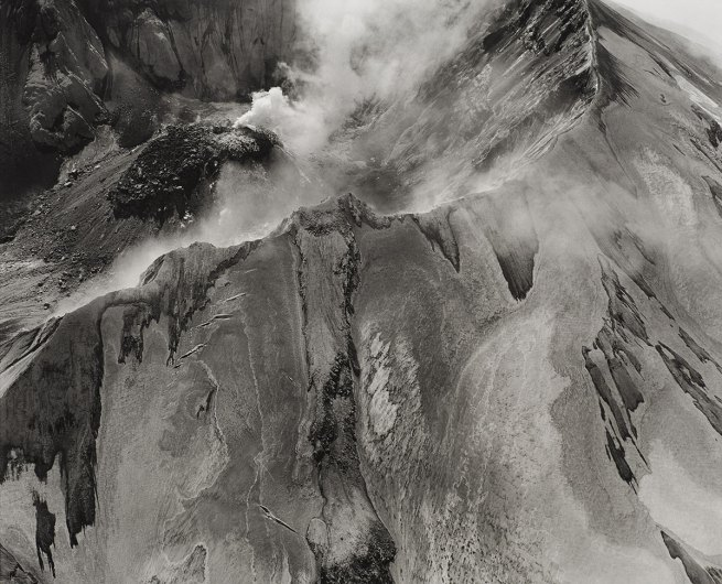 Emmet Gowin. 'Aerial view: Mt. St. Helens rim, crater and lava dome' 1982