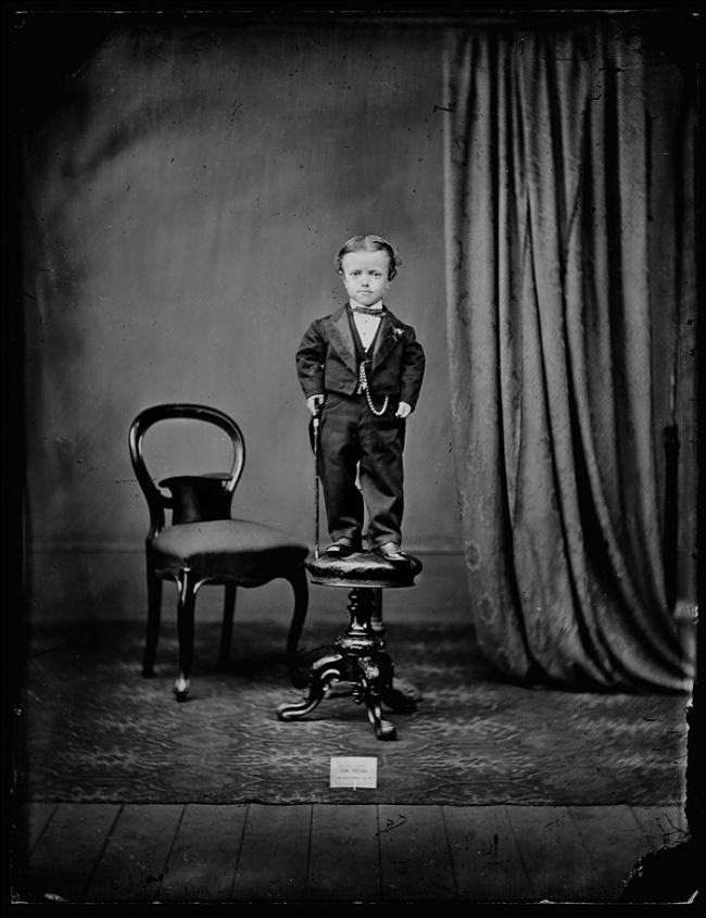 Unknown photographer. 'Tom Thumb' c. 1880